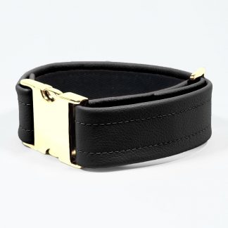 Bicep Strap – Standard Leather – Black - Gold Metal Fittings