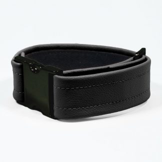 Bicep Strap – Standard Leather – Black - Black Plastic Fittings