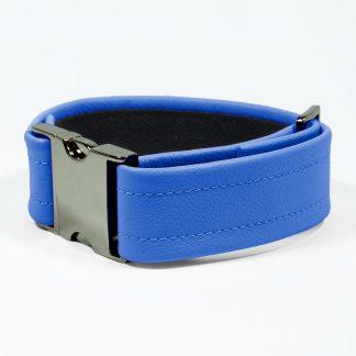 Bicep Strap – Standard Leather – Blue - Gun Metal Black Fittings