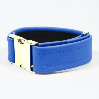Bicep Strap – Standard Leather – Blue - Gold Metal Fittings