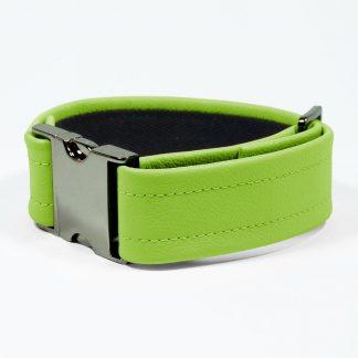 Bicep Strap – Standard Leather – Green - Gun Metal Black Fittings