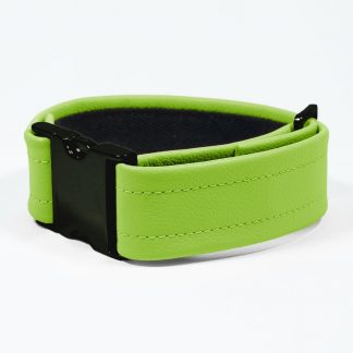 Bicep Strap – Standard Leather – Green - Black Plastic Fittings