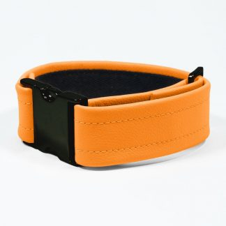 Bicep Strap – Standard Leather – Orange - Black Plastic Fittings