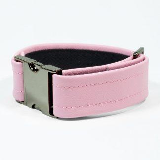 Bicep Strap – Standard Leather – Pink - Gun Metal Black Fittings