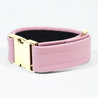 Bicep Strap – Standard Leather – Pink - Gold Metal Fittings