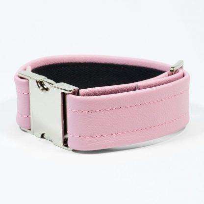 Bicep Strap – Standard Leather – Pink - Silver Metal Fittings