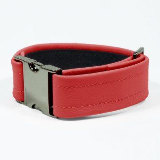 Bicep Strap – Standard Leather – Red - Gun Metal Black Fittings