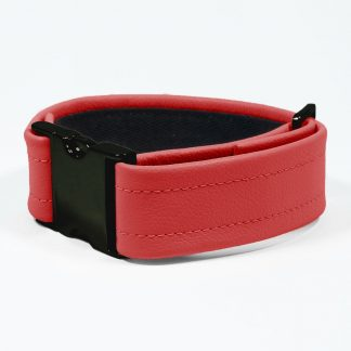 Bicep Strap – Standard Leather – Red - Black Plastic Fittings