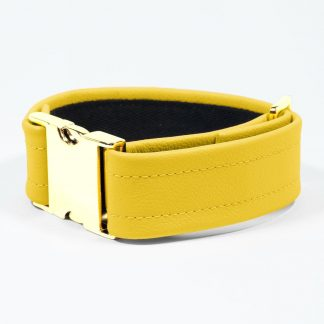 Bicep Strap – Standard Leather – Yellow - Gold Metal Fittings