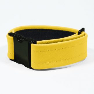 Bicep Strap – Standard Leather – Yellow - Black Plastic Fittings