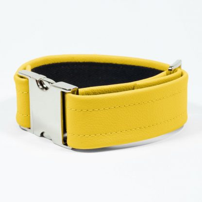 Bicep Strap – Standard Leather – Yellow - Silver Metal Fittings