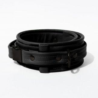 Collar – Standard Leather – Black - Black Plastic Fittings