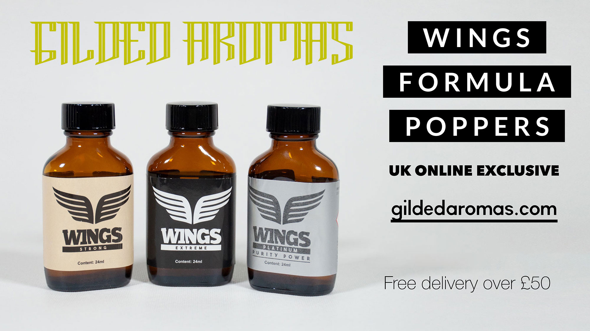 Wings Formula Poppers : UK Online Exclusive : Free delivery over £50